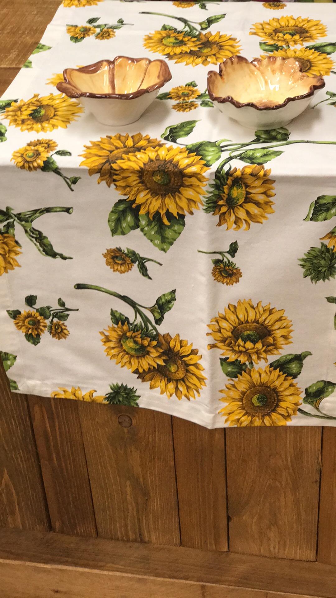 Wasche Fur Zu Hause Tischdeko Sonnenblumen